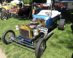 Hot Road Ford T bucket 1923 - blue- 2