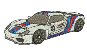 Embroidery Porsche 918 RSR Martini