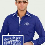 Royal Blue Newman Shirt with AC cobra