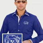 Royal Blue Newman Shirt with Gordini