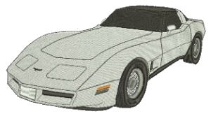 Embroidery Corvette