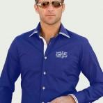 Newman Royal Blue Long Sleeve Shirt